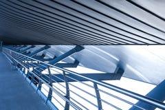 蓝色现代金属工业建筑学建筑 库存图片