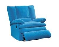 蓝色现代沙发 免版税库存照片