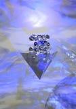 蓝色玻璃光 免版税库存照片
