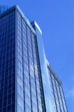 蓝色玻璃办公楼 库存图片