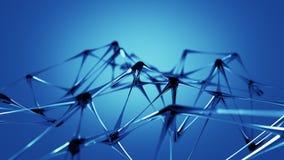 蓝色玻璃微结构3D回报 库存例证