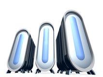蓝色玻璃服务器 向量例证