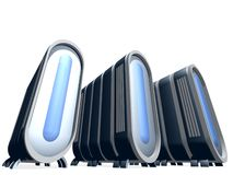 蓝色玻璃服务器 免版税库存照片