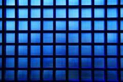 蓝色玻璃模式 库存图片