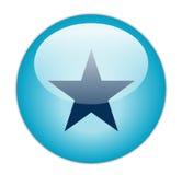 蓝色玻璃状图标星形 库存图片