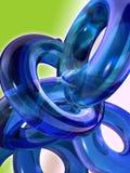 蓝色玻璃环形线圈 免版税库存照片