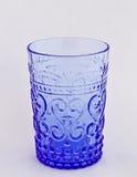 蓝色玻璃葡萄酒 免版税图库摄影