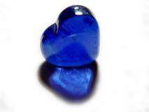 蓝色玻璃重点 库存图片