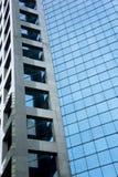 蓝色玻璃面板 免版税库存照片