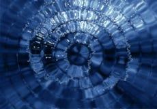 蓝色玻璃马赛克 免版税库存图片