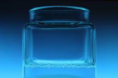 蓝色玻璃 库存图片
