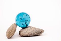 蓝色球形 免版税库存图片