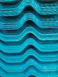 蓝色瓦屋顶纹理 免版税库存图片