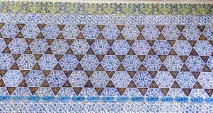 蓝色瓦片在Topkapi宫殿 库存图片