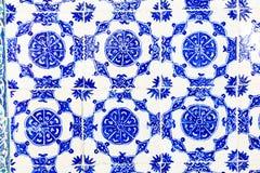 蓝色瓦片在Topkapi宫殿 免版税库存照片