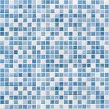 蓝色瓦片墙壁高分辨率 库存图片