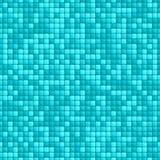 蓝色瓦片无缝的样式 库存例证