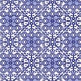 蓝色瓦片无缝的样式 库存照片