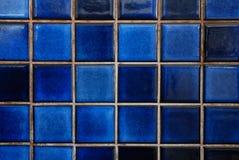 蓝色瓦片 库存图片
