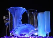 蓝色瓶星期一 免版税图库摄影