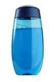蓝色瓶色的胶凝体阵雨 免版税库存照片