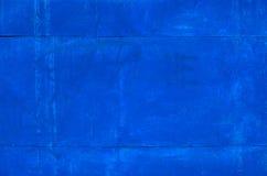蓝色生锈的金属纹理 免版税库存照片