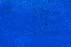 蓝色生锈的金属纹理 库存图片