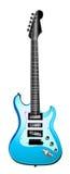 蓝色电吉他例证光 免版税库存图片