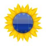 蓝色电太阳电池板的概念与 免版税库存图片