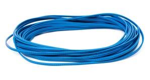 蓝色电导线 免版税库存照片