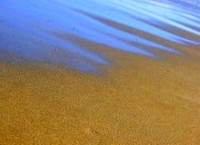 蓝色电沙子光泽 免版税库存图片