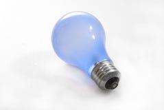 蓝色电灯泡光 免版税库存照片