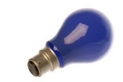 蓝色电灯泡查出的光 图库摄影