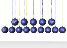 蓝色电灯泡 免版税库存照片