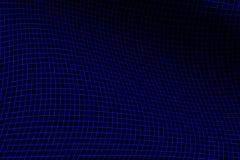 蓝色电网格 免版税图库摄影