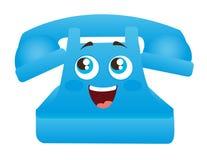 蓝色电话动画片 库存图片