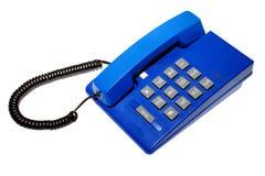 蓝色电话 免版税库存照片