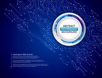 蓝色电路板传染媒介例证 免版税图库摄影