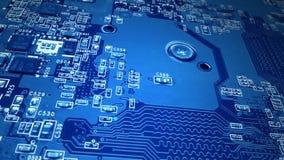 蓝色电路板 股票录像