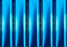 蓝色电金属罐子 库存照片