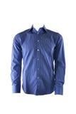 蓝色男性衬衣 免版税库存图片