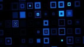 蓝色疯狂的霓虹正方形提取VJ圈背景 皇族释放例证