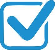 蓝色登记箱子 库存例证