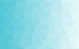 蓝色白光多角形背景,传染媒介例证,结冰的业务设计模板背景冬天 图库摄影