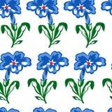 蓝色的传染媒介例证开花无缝的样式 免版税库存照片