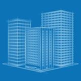 蓝色的办公室 免版税库存图片