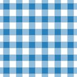 蓝色的无缝的抽象例证chechkered方格花布tabl 免版税库存图片