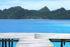 蓝色的桥头堡 库存图片
