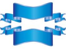 蓝色的横幅 免版税库存图片