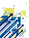 蓝色的箭头 向量例证